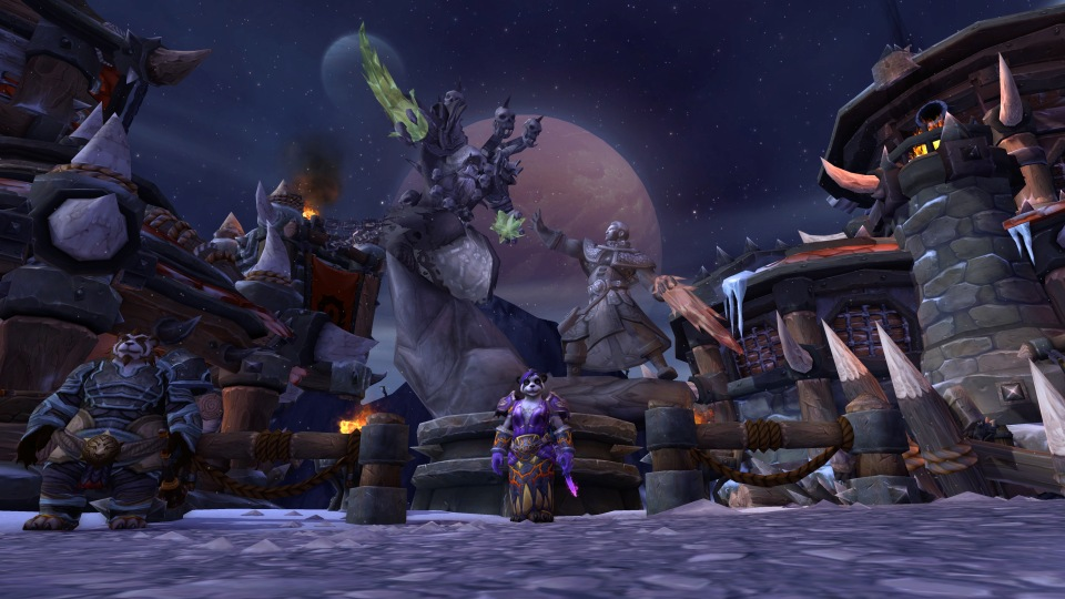 Archimonde monument in my garrison