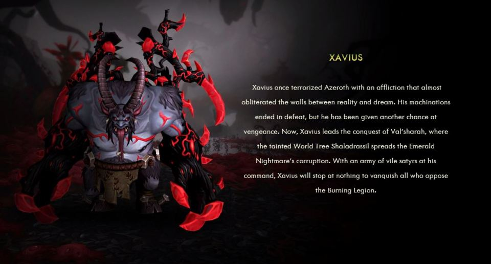 Xavius' involvement in Legion