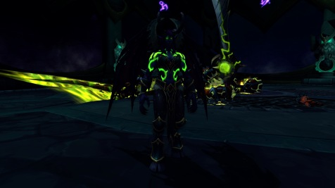 Metamorphosis from the front - digging that green fel energy!