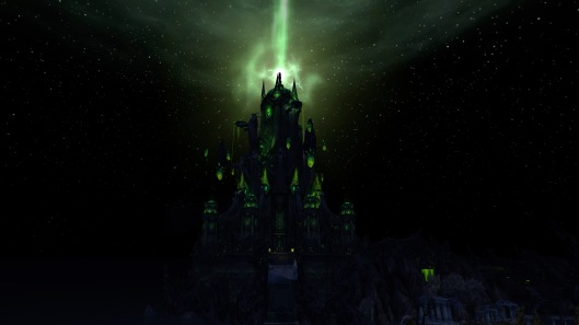 Looking over at the Tomb of Sargeras from Krosus' broken bridge... VERY daunting!!