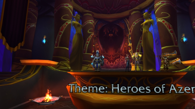 "Third place for my Alliance-themed ""Heroes of Azeroth"" transmog on my shaman"