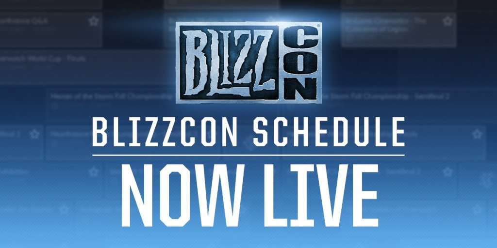 Blizzcon schedule now live
