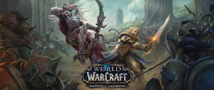 World_of_Warcraft_Battle_for_Azeroth_Anduin_vs_Sylvanas_Key_Art_Logo