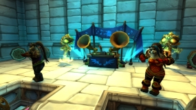 Auction house dance party