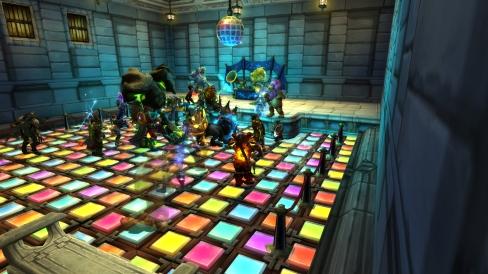 Auction house dance party
