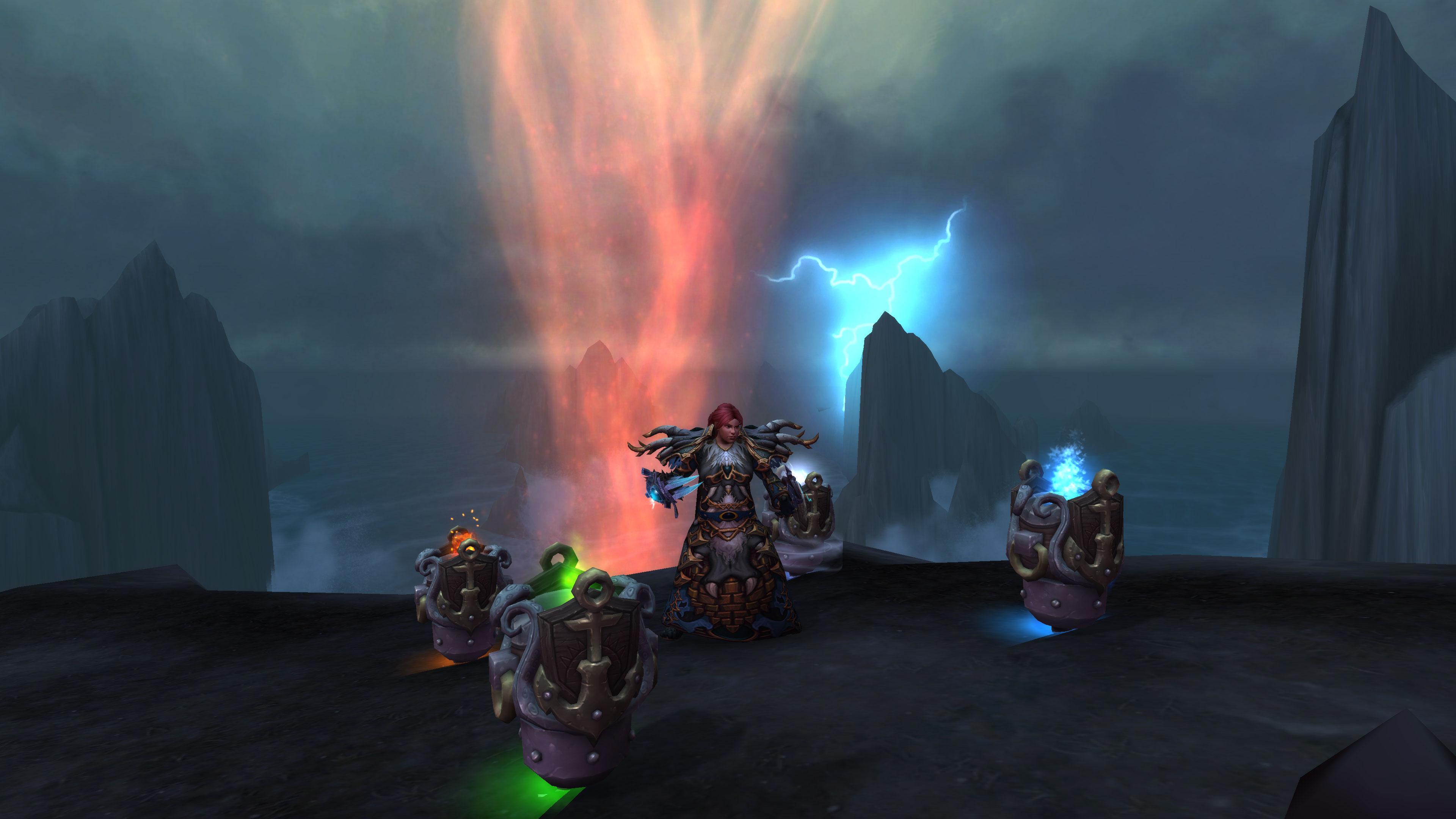 Kul'Tiran shaman with totems